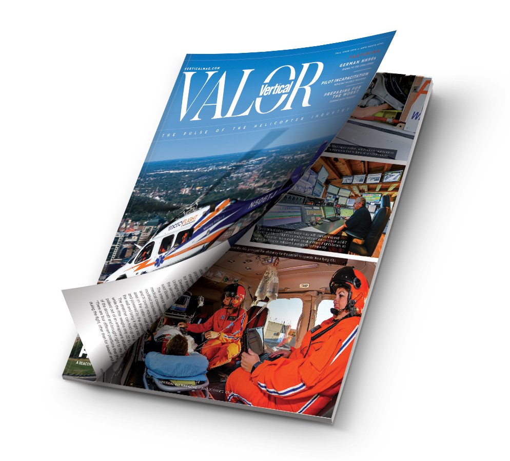Mockup issue of Vertical Valor magazine.