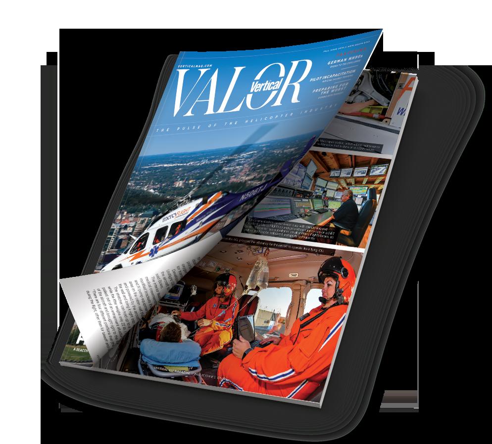 Mockup issue of Vertical Valor magazine.
