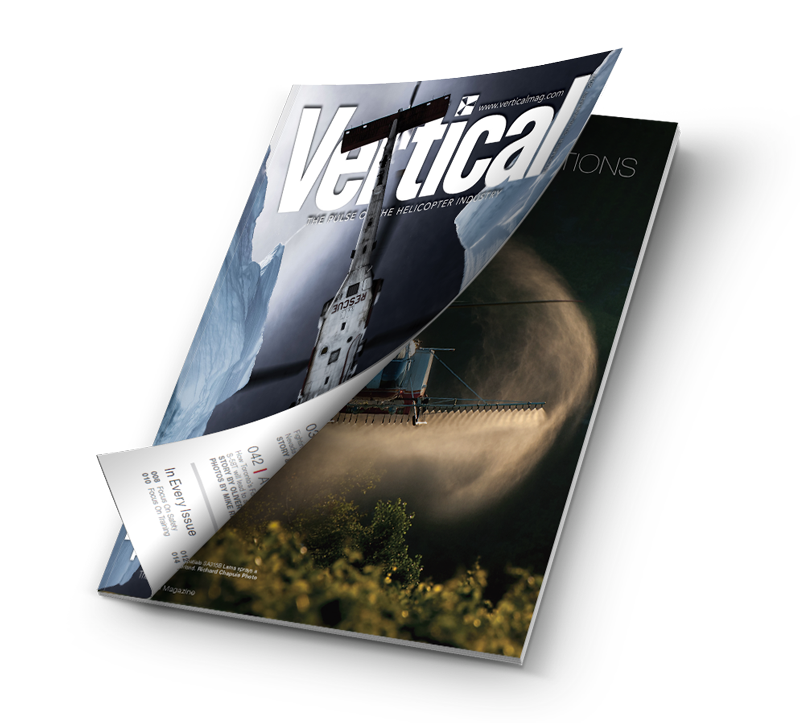 Mockup issue of Vertical magazine.
